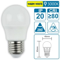LED-Leuchte mit E27 Sockel, 4 Watt (entspricht ca. 30 Watt), warmwhite