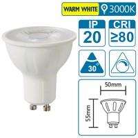LED-Leuchte mit GU10 Sockel, 3 Watt (entspricht ca. 25 Watt), warmwhite, dimmbar