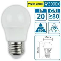 LED-Leuchte mit E27 Sockel, 3 Watt (entspricht ca. 25 Watt), warmwhite
