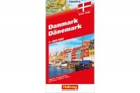 HALLWAG Strassenkarte, 382830012, Dänemark (Dis/BT) 1:300'000