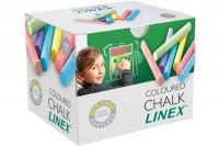 LINEX Tafelkreiden, 474200L, farbig ass. 100 Stück