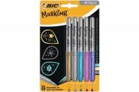 BIC Marker Metallic Ink, 942861, assortiert 5 Stück