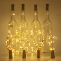 Weinkorken-Attrappe mit LED-Dekolicht (Batterie)