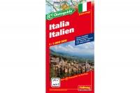 HALLWAG Strassenkarte, 382830026, Italien (Dis/BT) 1:1 Mio.