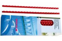 RENZ Plastikbinderücken 8mm A4, 202210802, rot, 21 Ringe 100 Stück