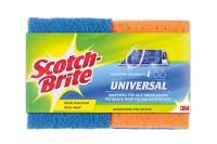 SCOTCH-BRITE Universal Schwamm, SB617/2, blau/orange 2 Stück