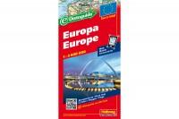 HALLWAG Strassenkarte, 382830017, Europa (Dis/BT) 1:3,6 Mio.
