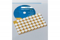 HERMA CD Fixierungspunkte 15mm, 2015, weiss  90 Stück