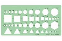 LINEX Kombinationsschablone, 588500L, geometrische Grundfiguren