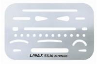 LINEX Radierschablone, 247100L, mit 26 Öffnungen
