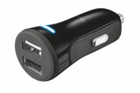 TRUST Car Charger, 20572, with 2 USB ports, 20W black