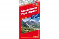 HALLWAG Strassenkarte, 382830004, Alpenländer 1:700'000