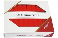 STEINHART Baumkerzen 100x13mm, 02333-10, rot  20 Stück