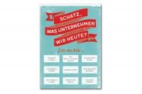 VON QUAST Rubbel-Postkarte Schatz, was uternehmen wir..., FVQ49RP00