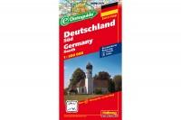 HALLWAG Strassenkarte, 382830015, Deutschland Süd 1:500'000