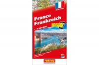 HALLWAG Strassenkarte, 382830021, Frankreich (Dis/BT) 1:1 Mio.