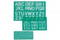LINEX Schriftschablonen-Set, 586500L, 3-teilig