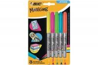 BIC Marker Color Pastel Ink, 942865, assortiert 5 Stück