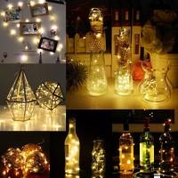 Weinkorken-Attrappe mit LED-Dekolicht (Solar)