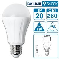 LED-Leuchte mit E27 Sockel, 9 Watt (entspricht ca. 65 Watt), daylight, big angle, dimmbar
