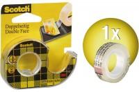 SCOTCH Tape m. Abroller 665 12mmx6.3m, 136D MDEU, doppelseitig