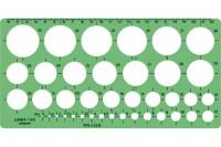 LINEX Kreisschablone, 561400, 1-35mm grün/transp.