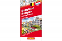 HALLWAG Strassenkarte, 382830007, Benelux  1:250'000