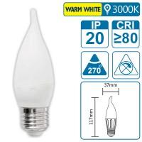 LED-Leuchte mit E27 Sockel, 3 Watt (entspricht ca. 30 Watt), warmwhite