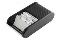 HELIT Visitenkarten-Box, H6218095, schwarz  136x240x67mm
