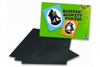 FOLIA Scherenschnittpapier 35x50cm 80g, schwarz, 07.70301