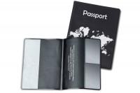 HIDENTITY Reisepasshüllen, 0330-07, schwarz