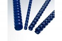 RENZ Plastikbinderücken 8mm A4, 202210804, blau, 21 Ringe 100 Stück