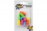 LINEX Radierer, 433400L, farbig ass.  10 Stück