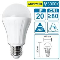 LED-Leuchte mit E27 Sockel, 9 Watt (entspricht ca. 60 Watt), warmwhite, big angle, dimmbar
