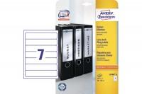AVERY ZWECKFORM Ordner-Etiketten 38x192mm, L4760-25, weiss 175 Stück/25 Blatt