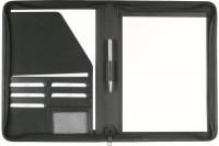 DUFCO Schreibmappe 260x350mm, 738 30, mit RV, inkl. Block A4 schwarz