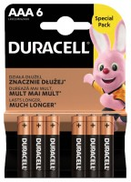 DURACELL Batterie Plus 1.5V, DUR018457, Micro/LR03/AAA 6 Stück