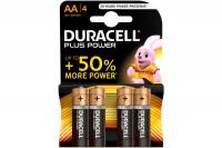 DURACELL Batterien Plus Power 1,5 V, 17641, Mignon/LR6/AA 4 Stück