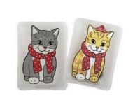 ROOST Taschenwärmer Katze gelb/rot 2 assortiert